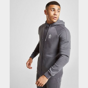 Men's Gym King Core Plus Full-Zip Hoodie Grey Sales