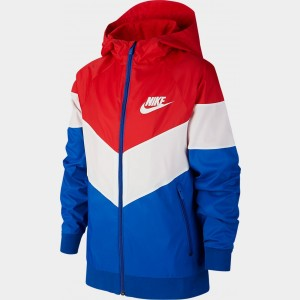 Boys' Nike Sportswear Windrunner Jacket University Red/Summit White Sales