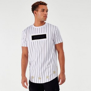 Men's Supply & Demand Roll Pinstripe T-Shirt Optic White Sales