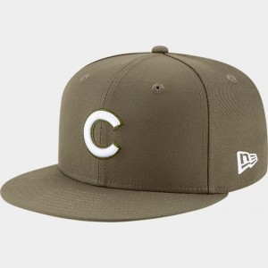 New Era Chicago Cubs MLB 9FIFTY Snapback Hat Olive Sales