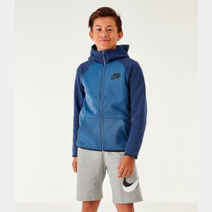 Kids' Nike Sportswear Tech Fleece Full-Zip Jacket Mystic Navy/Midnight Navy/Black Sales