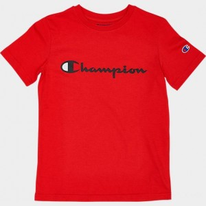 Kids' Champion Heritage T-Shirt Red Sales