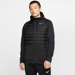 Men's Nike Winterized Therma Full-Zip Hoodie Black Sales