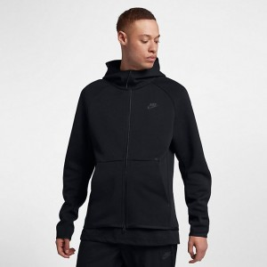 Men's Nike Sportswear Tech Fleece Full-Zip Hoodie Black Sales