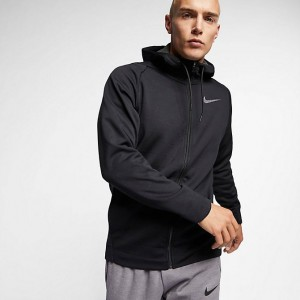 Men's Nike Therma Full-Zip Jacket Black/Anthracite/Metallic Hematite Sales