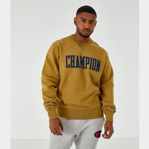 Men's Champion Reverse Weave Vintage Crewneck Sweatshirt Imperial Gold Sales