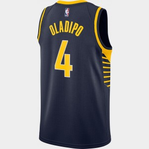 Men's Nike Indiana Pacers NBA Victor Oladipo Icon Edition Connected Jersey Navy Sales