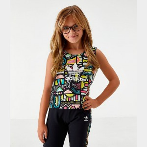 Kids' adidas Originals Print Tank Top Multicolor/White Sales