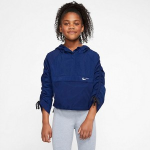Girls' Nike Sportswear Hip Pack-It Packable Jacket Blackened Blue Sales