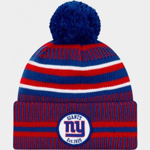 New Era New York Giants NFL Home Striped Sideline Beanie Hat Team Colors Sales