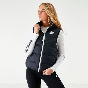 Women's Nike Sportswear Reversible Windrunner Down Vest Black/Black/Sail Sales