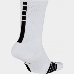 Unisex Nike Elite Crew Basketball Socks White/Black Sales