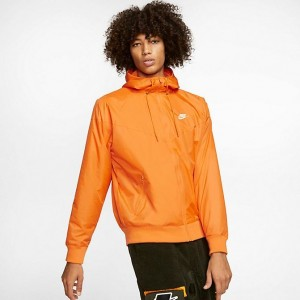 Men's Nike Sportswear Colorblock Windrunner Hooded Jacket Kumquat/Kumquat/Kumquat/White Sales
