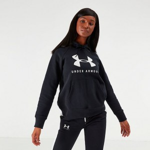 Women's Under Armour Rival Fleece Sportstyle Graphic Hoodie Black Sales