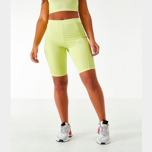 Women's adidas Originals Bike Shorts Neon Yellow Sales