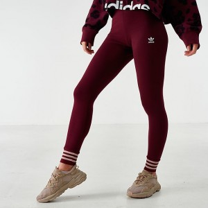 Women's adidas Originals Bellista Leggings Maroon Sales