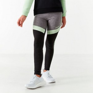 Girls' adidas Originals Climalite D2M Melange Tights Mint/Black/Grey Sales