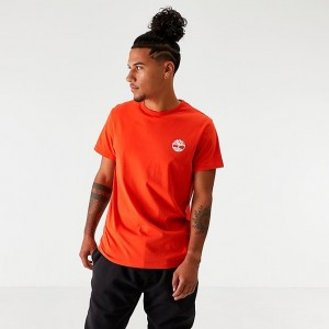 Men's Timberland Camo Logo T-Shirt Spicy Orange Sales