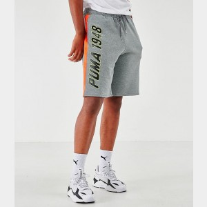 Men's Puma Lux Shorts Grey Sales