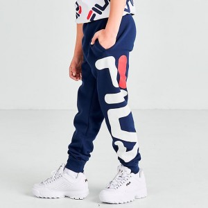 Boys' Fila Tyrone Jogger Pants Navy Sales