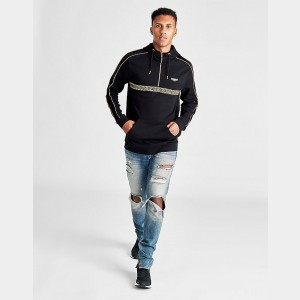 Men's Supply & Demand Roller Half-Zip Hoodie Black Sales