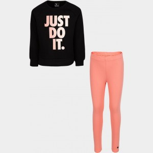 Girls' Little Kids' Nike JDI Leggings Set Pink Gaze Sales