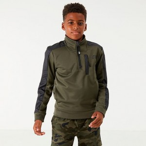 Boys' The North Face Mittellegi Half-Zip Sweatshirt Forest Green Sales