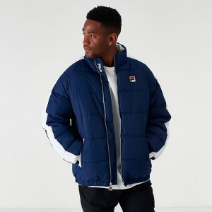 Men's Fila Ledge Jacket Navy Sales