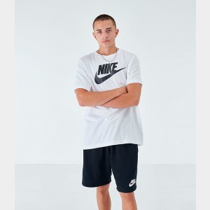 Men's Nike Sportswear Icon Futura T-Shirt White/Black Sales