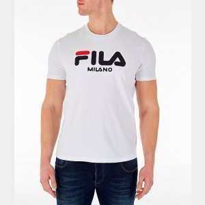 Men's Fila Milano T-Shirt White Sales