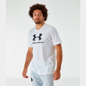 Men's Under Armour Sportstyle Logo T-Shirt White Sales