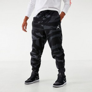 Men's Jordan Jumpman Camo Fleece Jogger Pants Black/Anthracite Sales