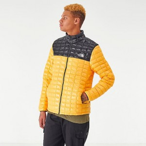 Men's The North Face Thermoball Eco Jacket Yellow/Black Sales