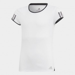 Girls' adidas Club Tennis T-Shirt White Sales