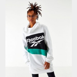 Women's Reebok Classics Vector Hooded Dress White/Black/Emerald Sales