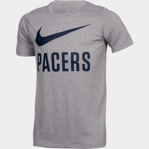 Boys' Nike Indiana Pacers NBA Swoosh T-Shirt Team Colors Sales