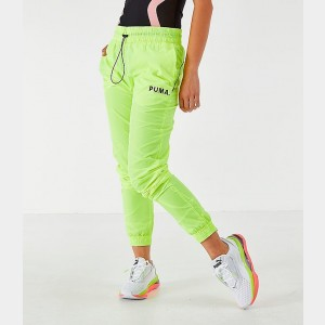 Women's Puma Chase Woven Jogger Pants Yellow Alert Sales