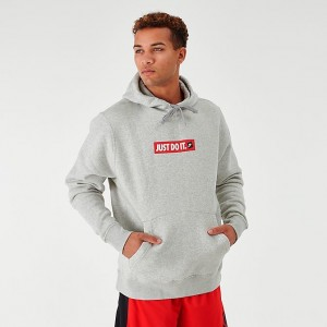 Men's Nike Sportswear JDI Fleece Hoodie Grey/Red Sales