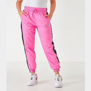 Women's Nike Sportswear Woven Swoosh Jogger Pants China Rose Sales