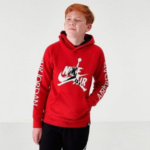 Boys' Big Kids' Jordan Mashup Jumpman Classics Fleece Hoodie Gym Red Sales