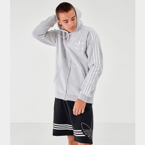Men's adidas Originals Adi Cali Full-Zip Hoodie Grey Sales