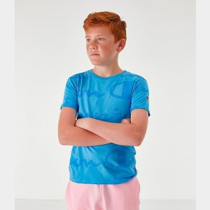 Kids' Champion Allover Print T-Shirt Active Blue Sales