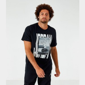 Men's Jordan Wavy Photo T-Shirt Black Sales