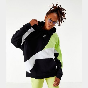 Women's adidas Originals A2K Hoodie Black/Yellow/White Sales