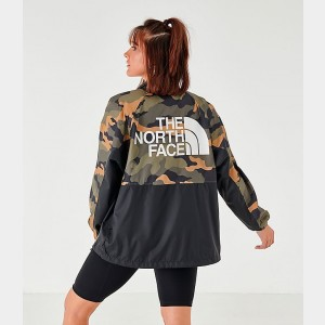 Black Friday 2021 Women's The North Face Wind Jacket Camo Sales