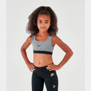 Girls' Nike Classic Sports Bra Carbon Heather/Dark Grey/Black Sales