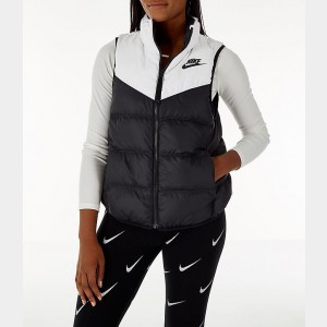 Women's Nike Sportswear Reversible Windrunner Down Vest White/Black Sales