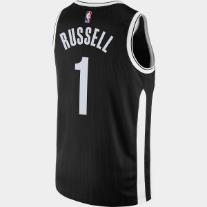 Black Friday 2021 Men's Nike Brooklyn Nets NBA D'Angelo Russell City Edition Connected Jersey Black Sales