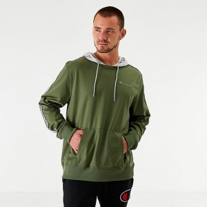 Men's Champion Track Hoodie Olive Sales