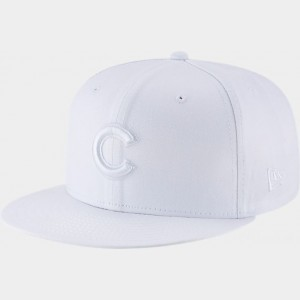 New Era Chicago Cubs MLB 9FIFTY Snapback Hat White Sales